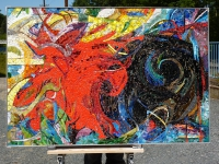 Franz Marc Gesamtansicht des Mosaiks