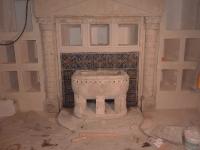 Zustand nach der Restaurierung und Wiederanbringung des Mosaiks