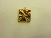 Mosaikschmuck Anhänger - Glasmosaik mit Blattgold