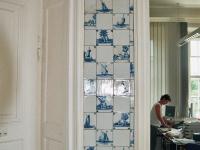 Wandfliesen im Barockschloss Reinhardtsgrimma